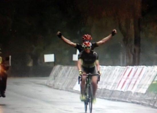Winning shot crossing the line